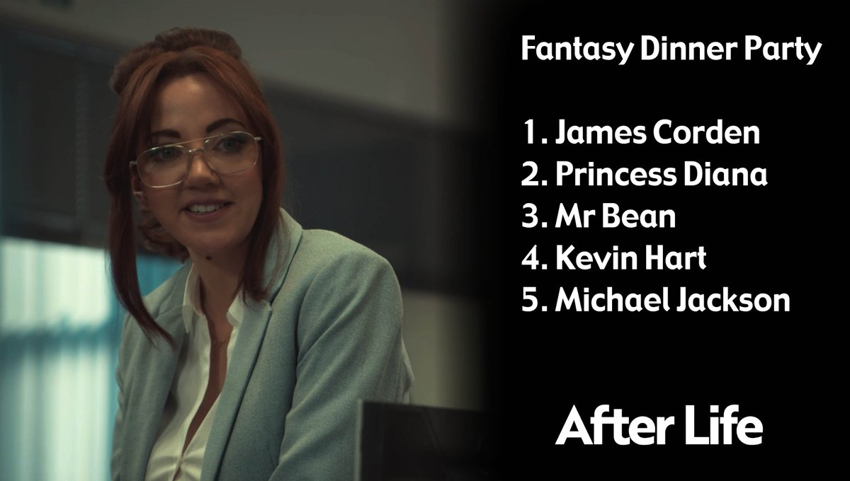 Do you agree with Kath? Who would you invite to your fantasy dinner party? #AfterLife