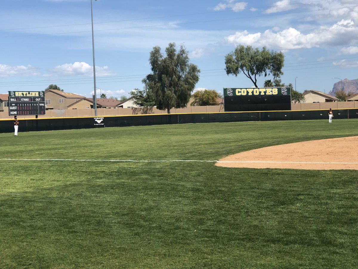 The best high school baseball field in the East Valley just got better with our new improvements. <br>http://pic.twitter.com/KPRc1UFLUJ