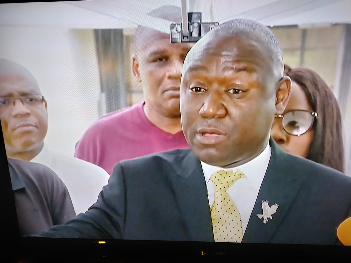 During press conference in Miami Gardens, Fl. today; @AttorneyCrump very deliberate in his delivery to the senseless killing of #LatashaWalton who was shot to death by a #FHP Trooper, #RonaldMelendezBonilla. [ He was not hit by the car, he tripped on the curb, Watch the Video ]<br>http://pic.twitter.com/sRYFURZaZv