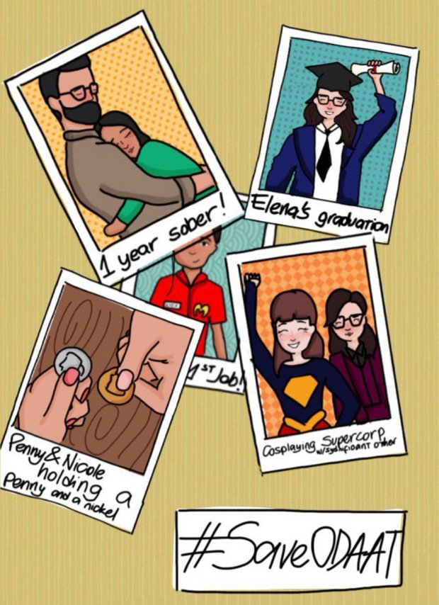 childish polaroid fanart for today! (things we could get if we #SAVEODAAT ) @toddgrinnell @Indiadebeaufort @JustinaMachado @sheridan_pierce @Isabella_Gomez @ODAATwriters @everythingloria<br>http://pic.twitter.com/MxkBbFlM46