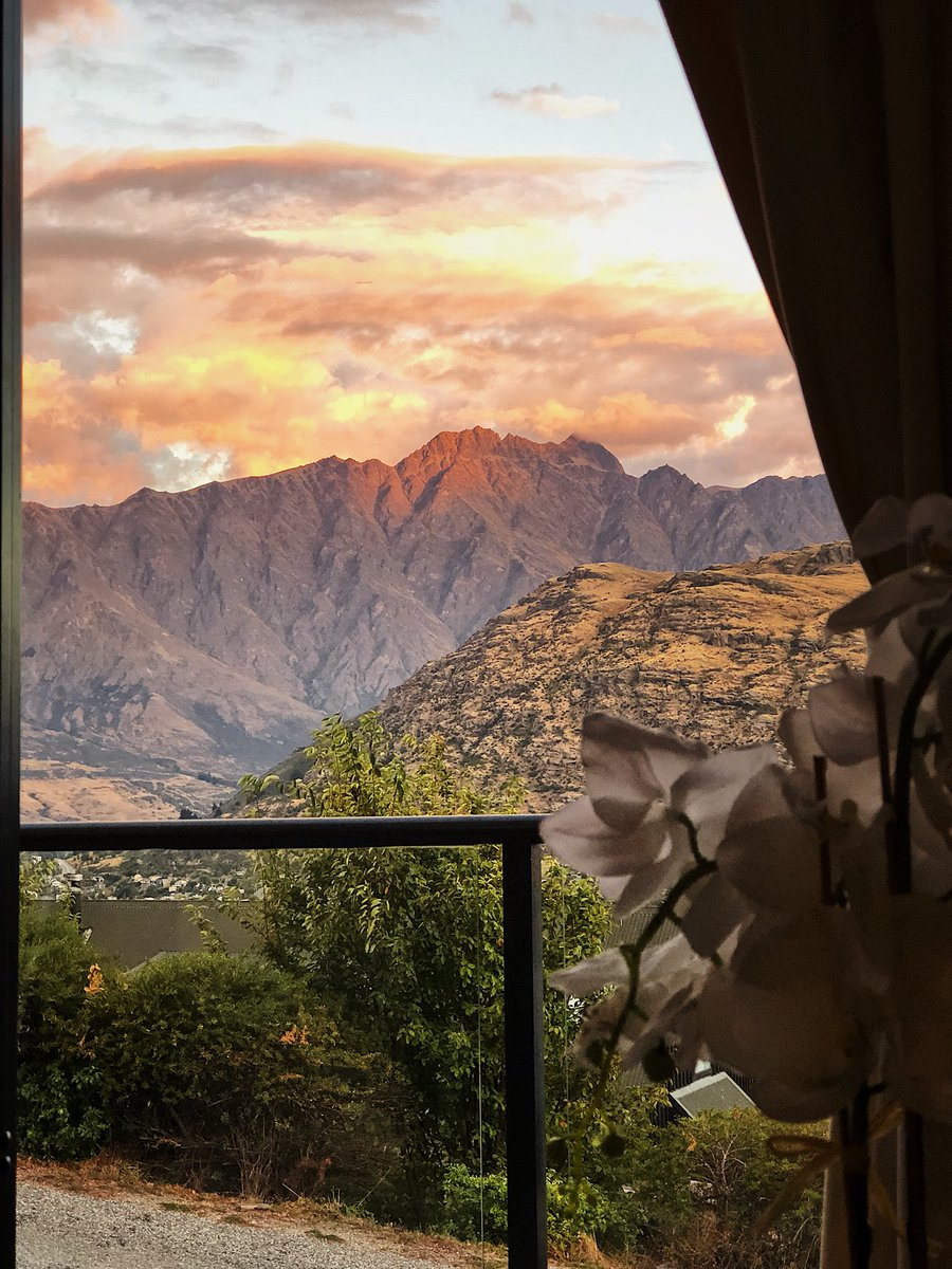 Evening views from the airbnb in Queenstown, NZ