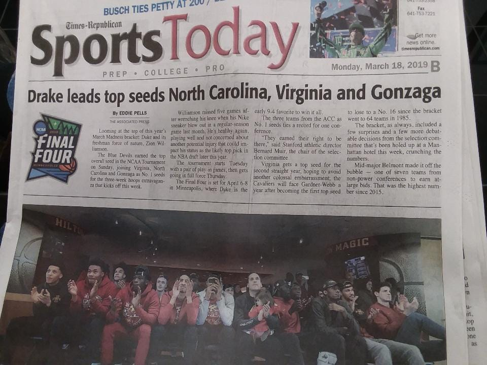 Local Paper Makes Embarrassing Error With NCAA Tournament Headline