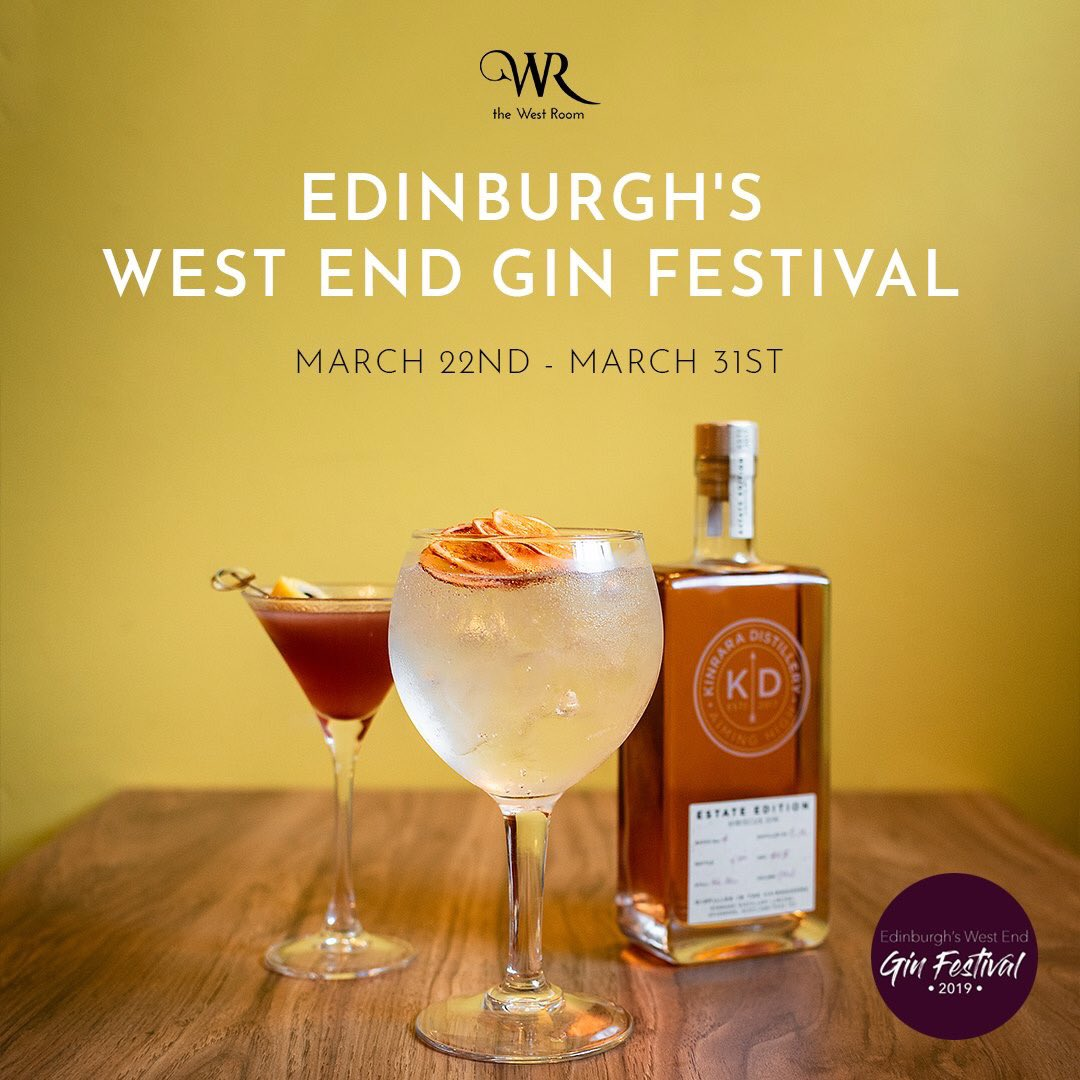 . @TheWestRoom have paired up with @KinraraDistil to take part in @westendginfest which starts this Friday! #WestGinFest2019
