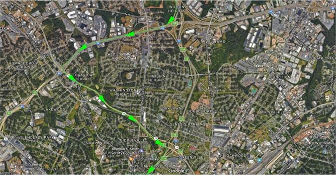 Detours are planned on I-77 Southbound between the I-85/I-77 interchange and the Brookshire Freeway/I-77 interchange tonight from 11pm to 5am. #I77 #clttraffic <br>http://pic.twitter.com/4TIQcgKno8