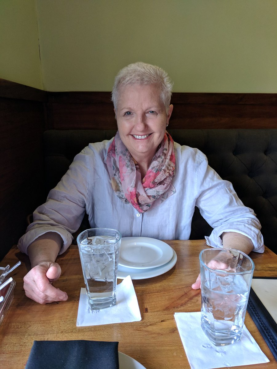 And here is Elizabeth enjoying a celebration night in ballantyne...thank the Lord, the end of cancer treatments. <br>http://pic.twitter.com/OpmAuRm1gg