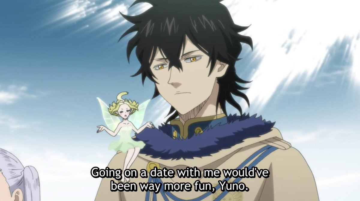 There's only one thing that can make Yuno smile. (via Black Clover)