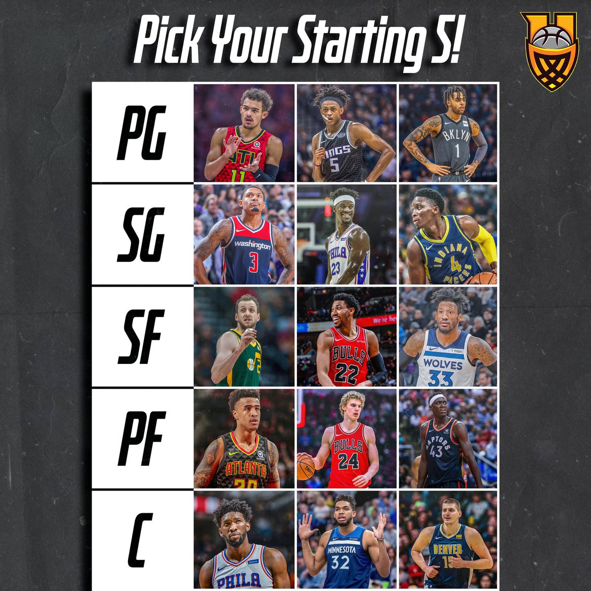 Select your Starting 5👇 ➖➖➖ Reply or Quote.