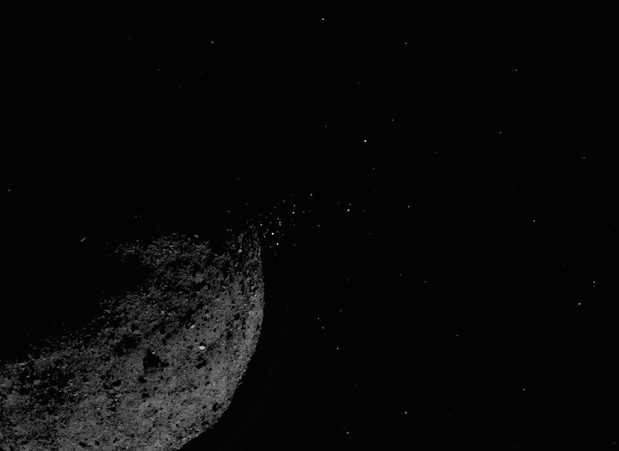 NASA's OSIRIS-REx spacecraft has found plumes of particles streaming off asteroid Bennu, one of several big surprises in the early months of the sample return mission's survey. FULL STORY: https://spaceflightnow.com/2019/03/19/nasas-osiris-rex-spacecraft-finds-rocks-erupting-off-asteroid-bennu/…