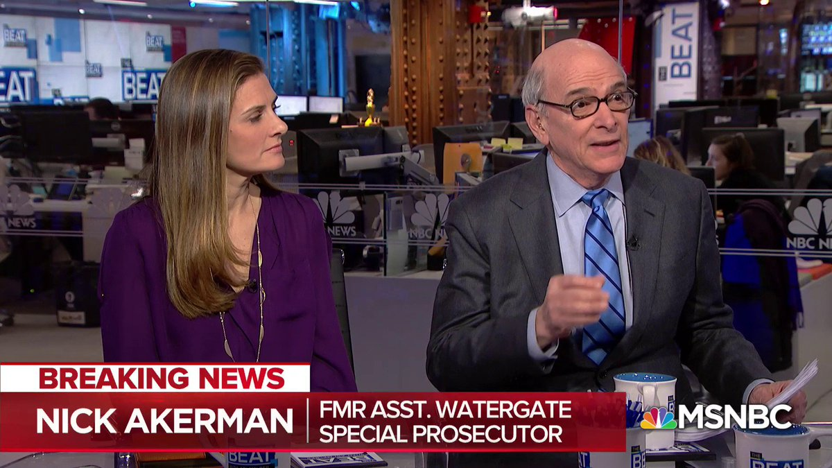 """""""The first big takeaway is that Donald Trump and Donald Trump Jr. are under investigation""""   Watergate prosecutor @nickakerman on what he believes new redacted Cohen docs reveal"""