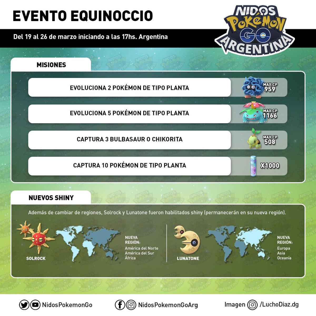 """Todas las nuevas misiones durante el evento de Equinoccio en Pokémon GO por <a href=""""https://twitter.com/nidospokemongo?lang=es"""">Nidos Pokémon GO Argentina</a>"""
