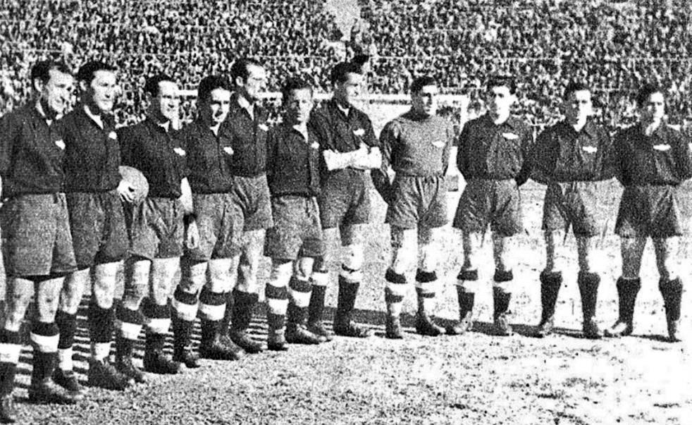 Empate 0-0 en el Stadium Metropolitano el día de San José de 1944 entre el @Atleti Aviación y el @GranadaCdeF. Por el Atleti: Calixto, Noguerales, Gabilondo, Ameztoy, Riera, Machín, Campos, Ederra, Taltavull, J.Cobo y Adrover Entrenador: Ricardo Zamora #11ATM #TalDiaComoHoy