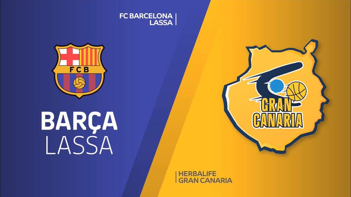 🏀👏 HIGHLIGHTS: @FCBbasket - @GranCanariaCB (93-64)   🔵🔴 #ForçaBarça!