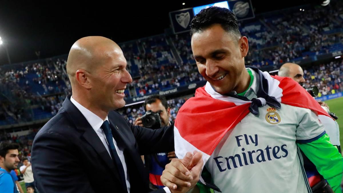 """🧤🇨🇷 @NavasKeylor en @partidazocope  ➡️ """"Estoy muy tranquilo con Zidane porque sé que si hablamos me va a decir la verdad""""  ❓@juanmacastano: """"¿Solari no te dijo la verdad?""""  ➡️ """"Yo hablé poco con él""""  #PartidazoKeylor"""
