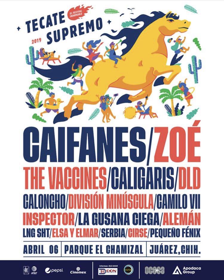 Este 6 de Abril @lagusanaciega presente en el line up del @festivalsupremo en Ciudad Juárez. Consigue tus boletos a través de https://t.co/CFAudVMsl8 ¡No te lo puedes perder! 🎟💥