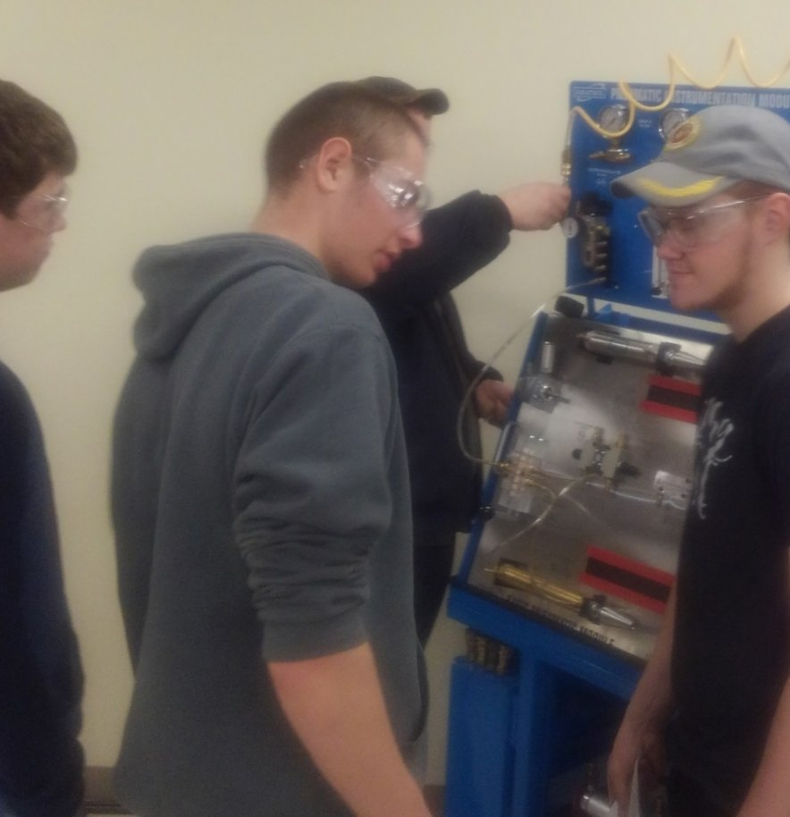 INDT 104 Duel Enrollment class @  Batesville Ivy Tech is providing these young men with employable skills to get there first steps into today's manufacturing market!