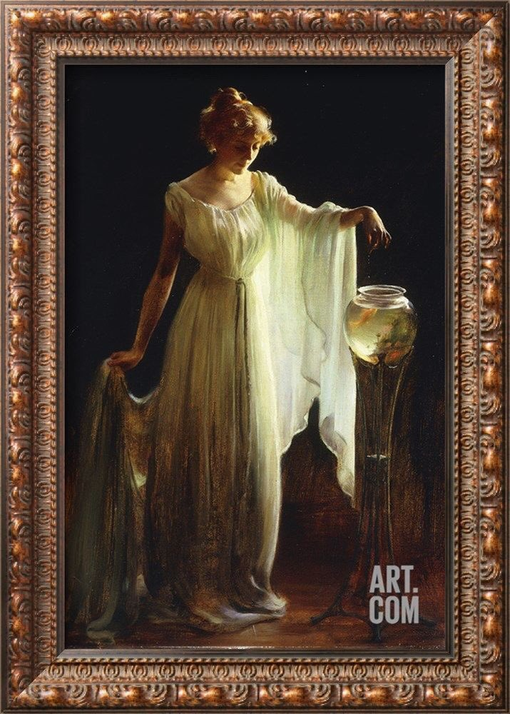 Good Nite Charles Courtney Curran &quot;The Goldfish (1911)&quot;<br>http://pic.twitter.com/YxLzRaZFhc