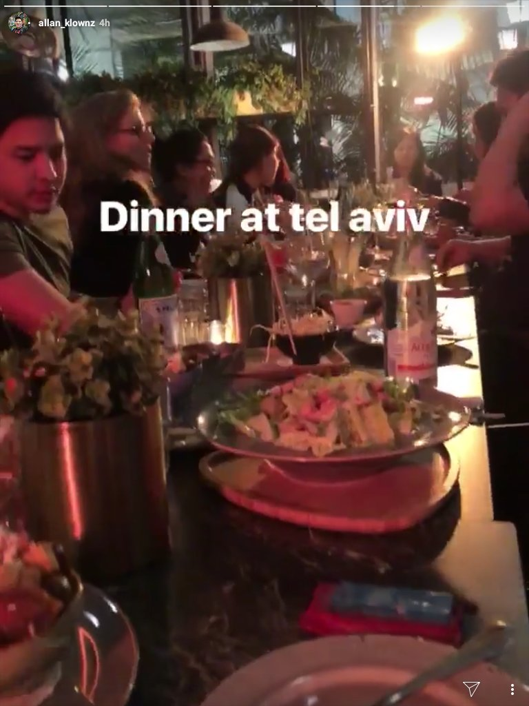 Good morning from here,  paps, @aldenrichards02  A &#39;grand feast&#39; to end your vacation in Tel Aviv. Masarap ba yang dinner niyo?  Have a good night&#39;s sleep.  Cr:AK IGS   #WeMissALDEN  #ALDENRichards<br>http://pic.twitter.com/TRfAQlXRbh