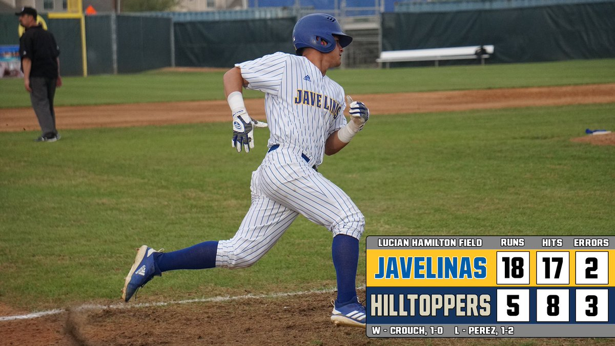 F | TAMUK - 18 | SEU - 5  Ballgame, Javelinas WIN! Hogs take both halves of the home-and-home with St. Edward&#39;s following an 18-5 final in today&#39;s contest!  #BackThePack<br>http://pic.twitter.com/dkFL55CHce