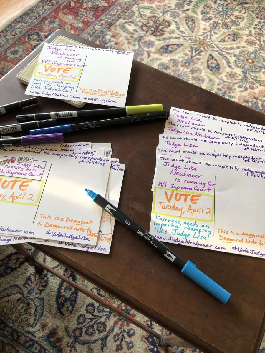 To keep my sanity I am back to #PostcardsToVoters #VoteJudgeLisa sending off a bunch to the neighbors north of me in Wisconsin! <br>http://pic.twitter.com/cYCQxhsyZS
