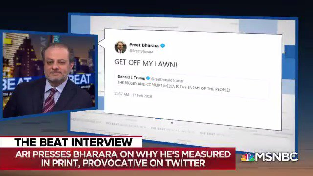 """""""The ludicrous, nonsense-filled, rapid fire, obnoxious, ethically-challenged tweets"""" by Trump are an embarrassment   @PreetBharara responds to whether his own tweets are provocative, given Trump criticism"""