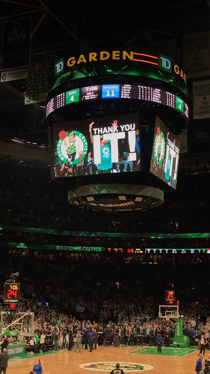 #IsaiahThomas got honored with a tribute, find out what the former #Celtics All-Star had to say about his return to the #TDGarden   👉🏼 https://www.causewaystreet.com/2019/03/nuggets-114-celtics-105-isaiah-thomas.html…  #ThankYouIT – at TD Garden