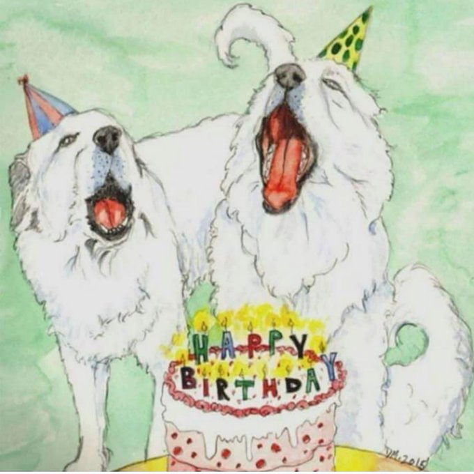 HAPPY BIRTHDAY  FROM BABY GEORGE BISQUIT AND FIONA RAE!