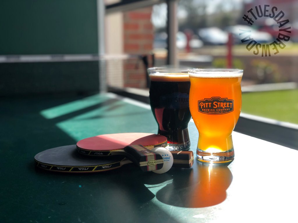 "What's a beer nerds favorite day of the week? #tuesdaybrewsday ! We just tapped a brand new ""Steam Beer"" or ""California Common"" which is brewed with lager yeast but fermented at ale fermentation temperatures. We still have a tiny bit of the Peppermint Stout as well!"