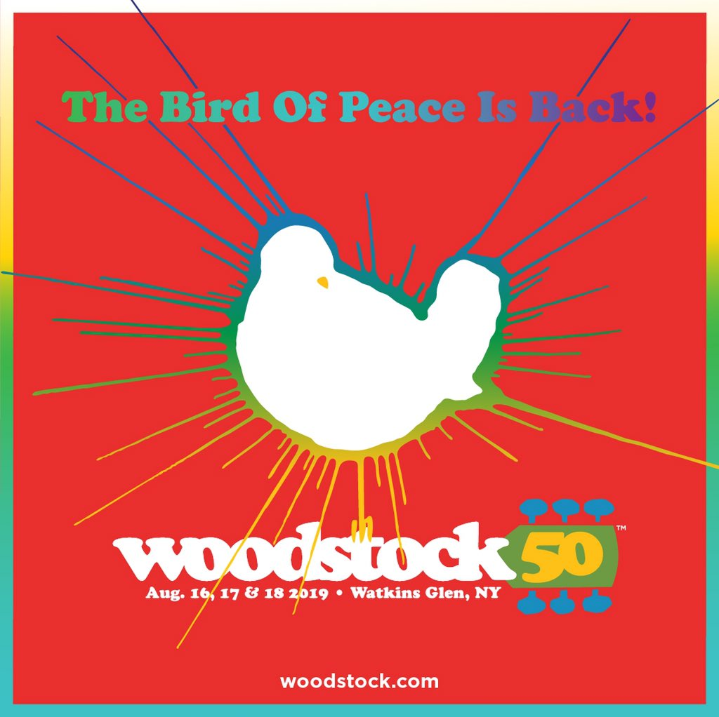 Thrilled to be playing the 50th Anniversary Woodstock Festival. Feeling like this is gonna be legendary! @woodstockfest #Woodstock50