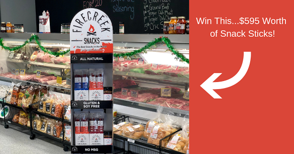 #Giveaway - Ends 3/24 - #Win FREE $595 FireCreek Snacks Fully-Stocked Floor Display with 80 Original Stix, 80 Kicker Stix, 80 Teriyaki Stix, & 6 Bottles of All-Purpose Rub!! https://wn.nr/9Jzn9g   #contest #free #snacks