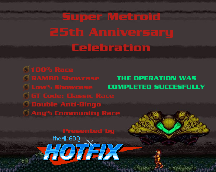 Thanks again to everyone who celebrated 25th anniversary of Super Metroid with us tonight, and a special thank you to all the runners and commentators who dedicated time to helping put on a good show with us! If you missed it, look out for the VODs on YouTube in the coming days!<br>http://pic.twitter.com/MA9eW7N2AD