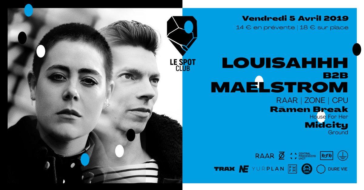 Next stop @LeSpotClubRouen w/ @LOUISAHHHh @maelstrom @LabelRaar  #Rouen <br>http://pic.twitter.com/i6zWBuPIAg