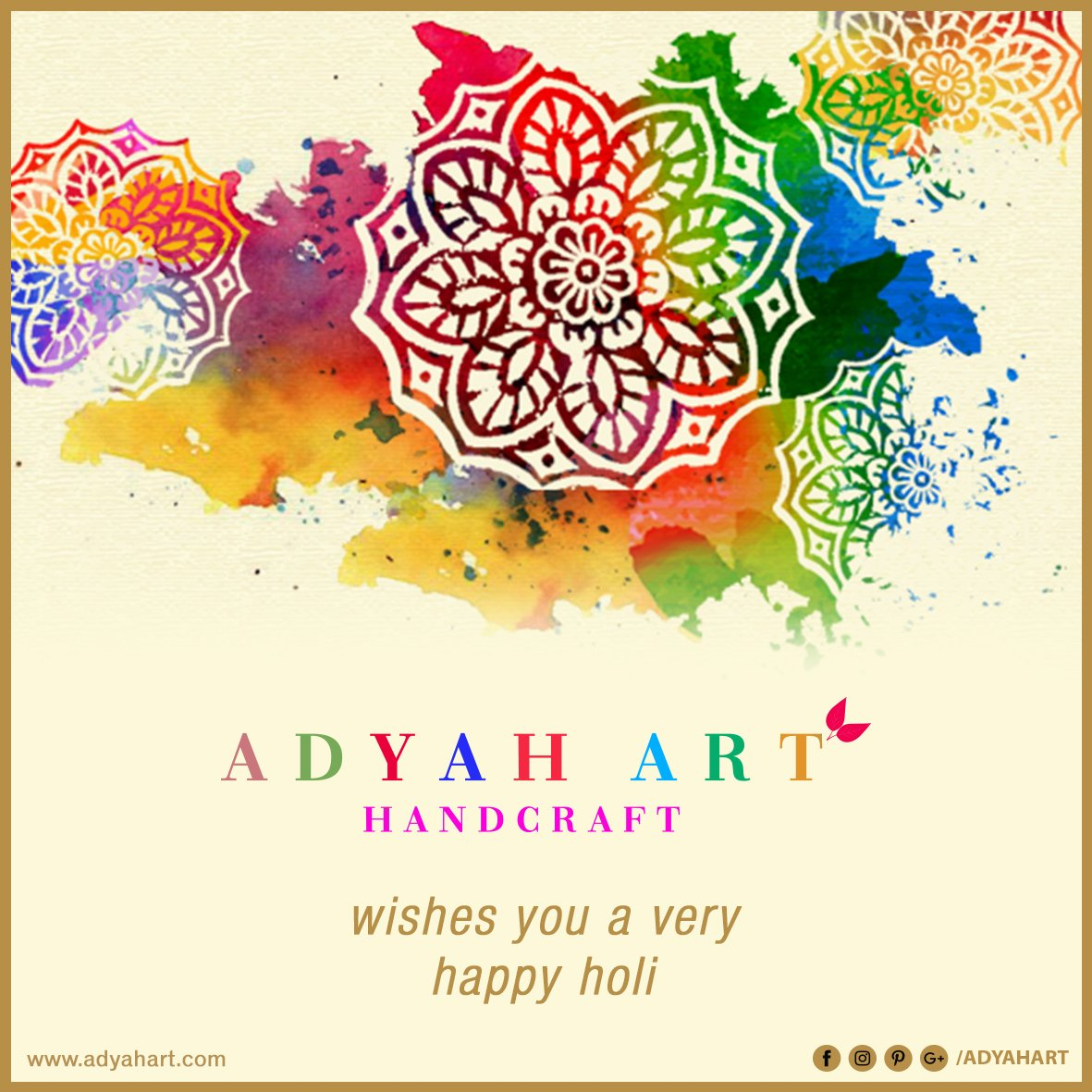 Adyah Art Handcraft wishes you a very Happy Holi #happyholi #holi2019 #happyholi2019 #AdyahArt #CustomDesigns #Handcraft #Brass #Metal #hotel #house #interior #exterior Call Us or Whatsapp @ 09871220066, 09891220066 Adyah Art Handcraft http://www.adyahart.com