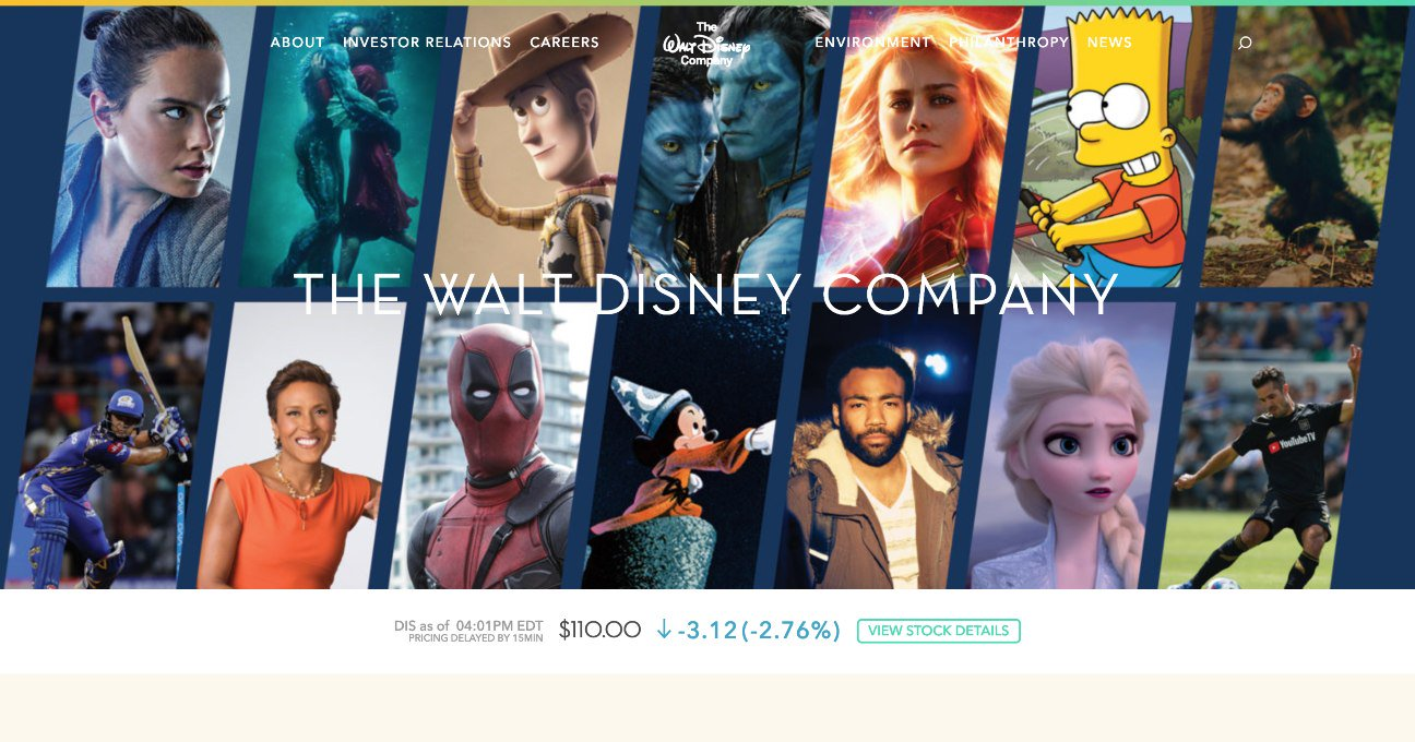 'The Simpsons', 'Avatar', 'Deadpool' appear on Disney homepage after Fox deal closure https://t.co/s411nZXj9G https://t.co/IH8MkwangS