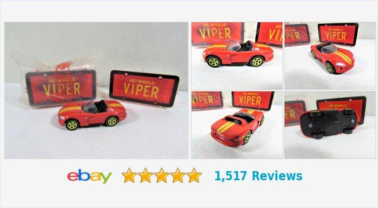 avon 1996 Hot Wheels Park /'N Plates Viper