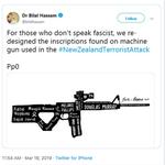 Image for the Tweet beginning: Linda Sarsour exploits #NewZealandMosqueAttack to