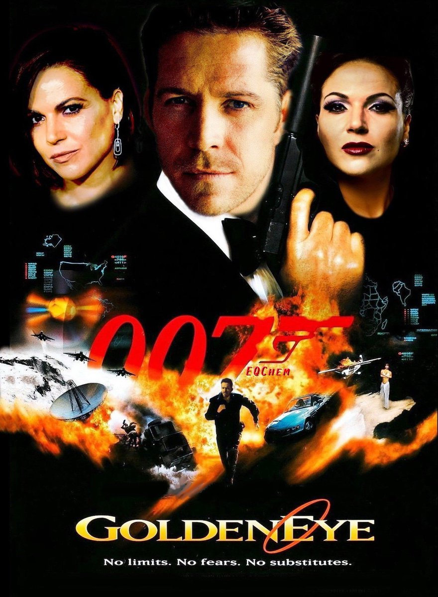 Here is the poster and the story. The first time Robin introduced himself to the Queen, there was a James Bond vibe. So I made this meme and Sean liked it and I was on cloud 9, or 007 :)) #OQMovieWeek<br>http://pic.twitter.com/CrlBNE1xqw