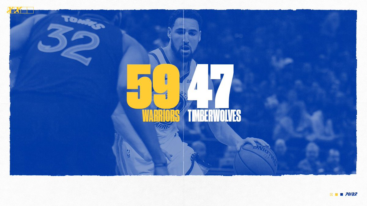 RT @warriors: 24 more minutes, #DubNation https://t.co/dkYFkwGc6O