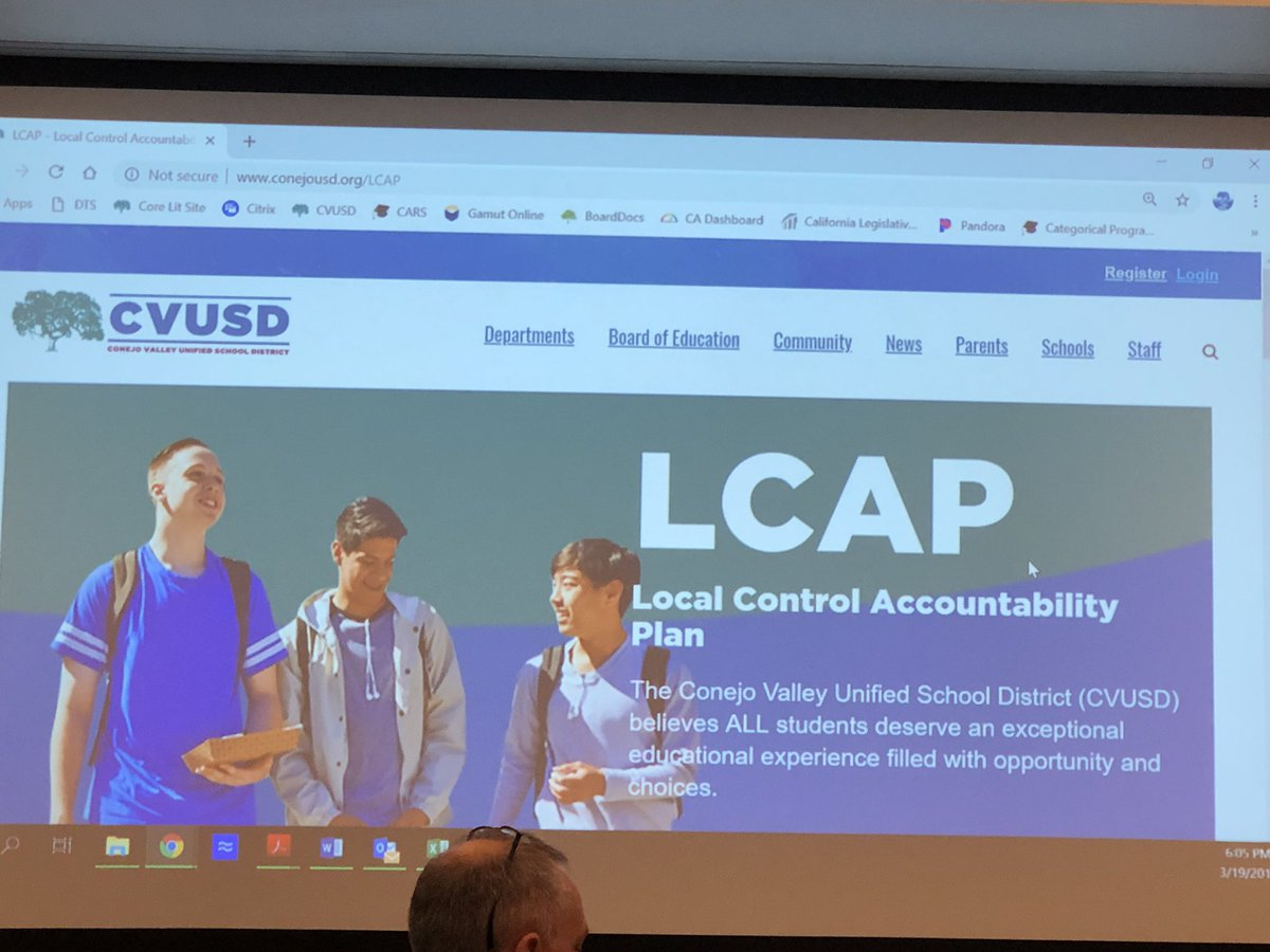 Assistant Superintendent Lou Lichtl is giving an update on the LCAP website. <br>http://pic.twitter.com/ER7cg7wdKY