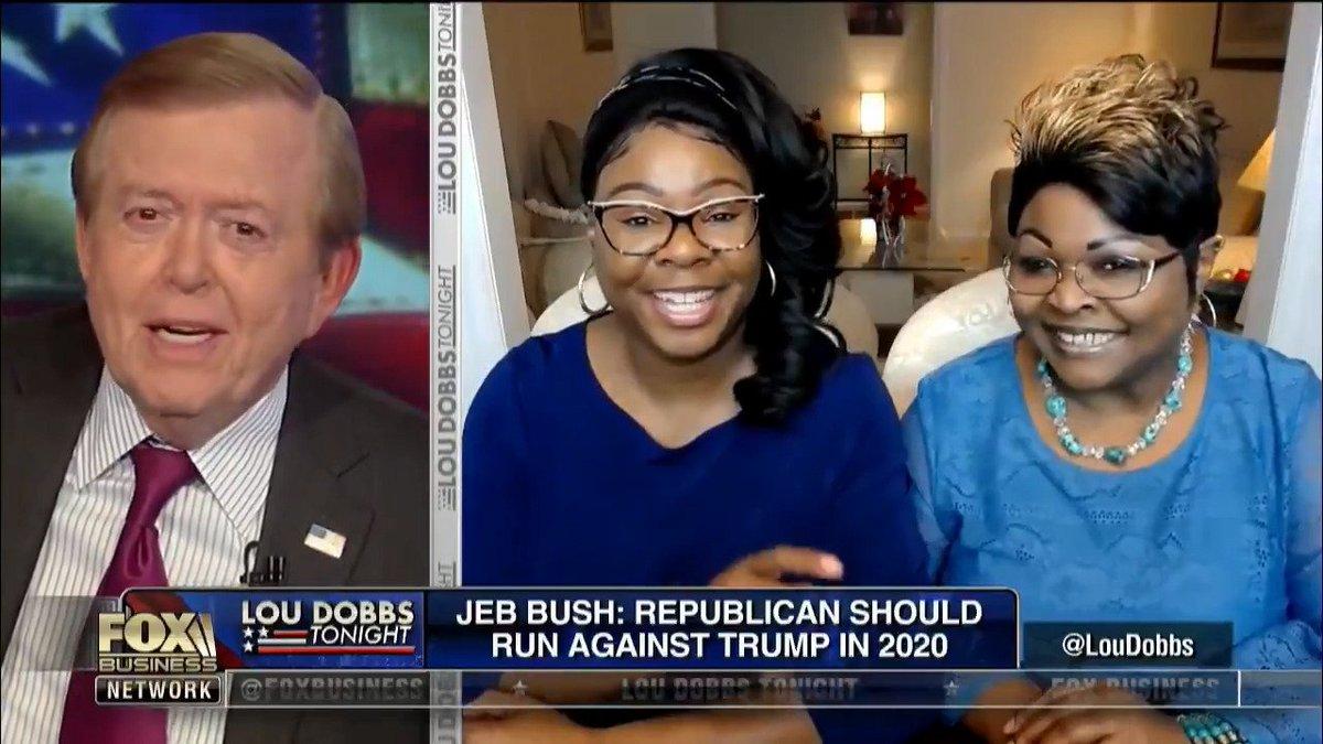 ".@Diamondandsilk on @LouDobbs...... ""Jeb Bush is not man enough to run against @POTUS"""