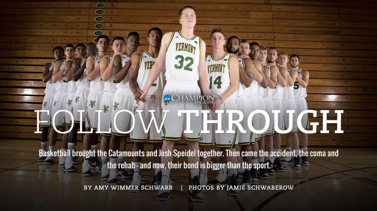 Four years ago, Josh Speidel was involved in a traumatic car accident that would change the course of his life but not @UVMmbb's commitment to him: http://on.ncaa.com/2jX6nmp