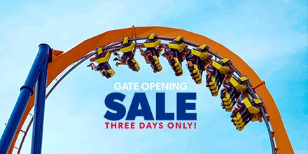 🚨 BOGO ALERT 🚨  Buy one single day admission ticket, get a second FREE during our Gate Opening Sale! https://bit.ly/2OcR4Gm  Psst. - Passholders can steal an exclusive Bring-A-Friend deal as well! But hurry, both offers end March 21.