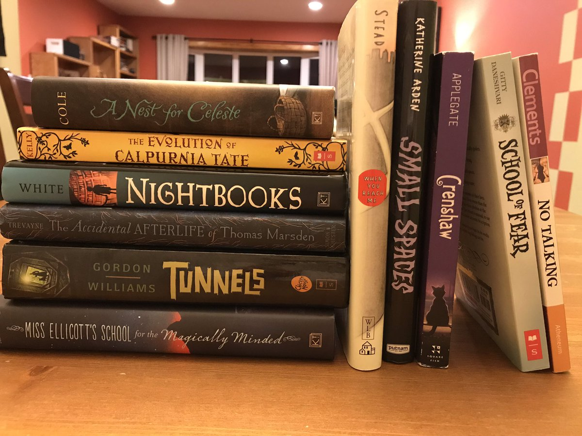 Hey #teachers and #librarians.  These fine books need children to read them.  Just follow me or retweet for a chance to win the whole batch (I'll sign NIGHTBOOKS and include a stack of bookmarks).  Winner picked March 28th!  #kidlit #edchat #kidsneedbooks