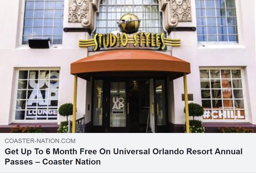 Thinking of a Universal Orlando annual pass? Take advantage of this special offer and get up to 6 months FREE.  Details --> http://coaster-nation.com/get-up-to-6-month-free-on-universal-orlando-resort-annual-passes/?doing_wp_cron=1553046424.3088800907135009765625 …