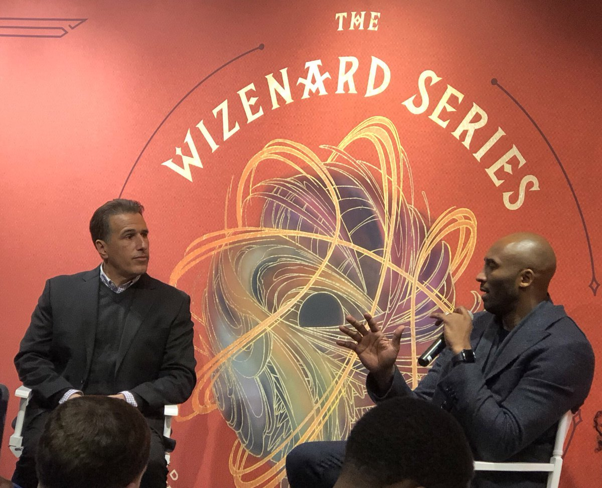 25faec3de19 So inspiring to hear from  kobebryant about his journey from basketball  legend to  TheWizenardSeries author! We can t wait to start reading!