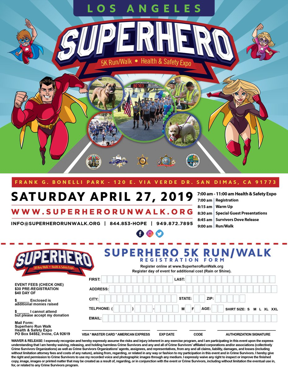 Have you registered for the Superhero Run/Walk Health & Safety Expo for April 27, 2019?   Bonelli Regional Park is very pretty. Plenty to see and do, even if you don't run/walk. Bring the whole family and spend the morning with us. No costume required.  https://www.facebook.com/LosAngelesCountySheriffsDepartment/photos/a.227394993954088/2672811386079091/?type=3&theater…