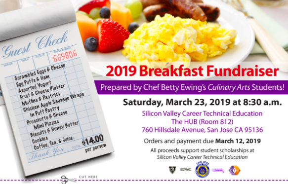 Silicon Valley CTE - we&#39;re hosting a fundraising breakfast, hosted by our culinary students. You want to be hungry this Saturday. Join us! @ESUHSD_Pathways @SVCTE @SanJoseUnified @SCCOE @SCCOESupe @mycuhsd @LGSUHSD @SantaClaraUSD @CUHSDEF @milpitashigh  https:// app.peachjar.com/flyers/629876/ districts/35315 &nbsp; … <br>http://pic.twitter.com/wKldYlPrBX