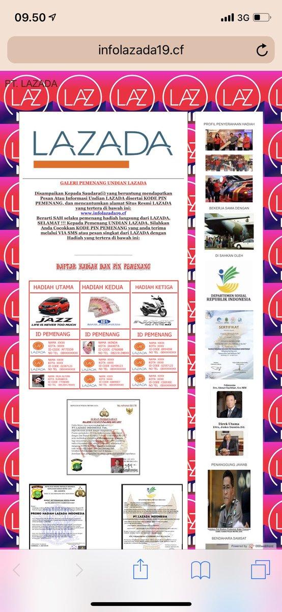 Undian Lazada Sms Penipuan Mengatasnamakan Lazada Bikin Heboh