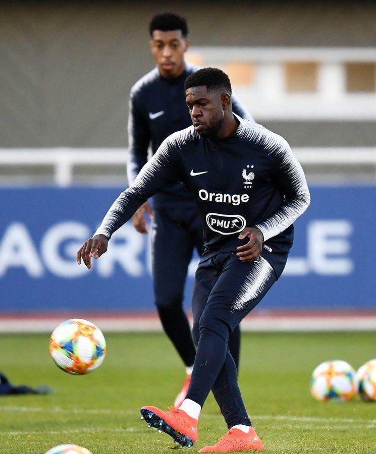 🇫🇷 صامويل اومتيتي من تدريبات منتخب فرنسا ..