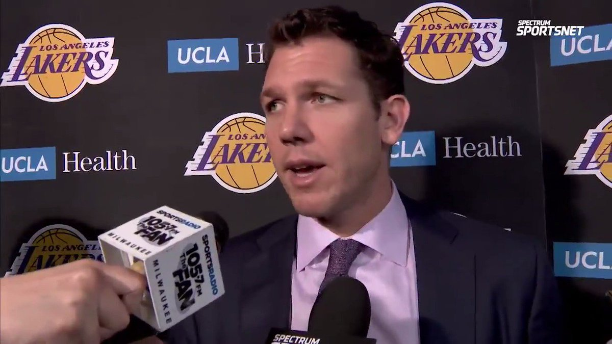 Hear Luke Walton talk about how KCP's effort kept the #Lakers in the game most of the night and the mindset heading into the final 11 games of the season.