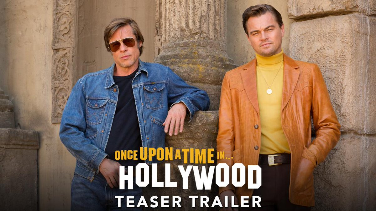 DiCaprio. Pitt. Robbie. Experience a version of 1969 that could only happen #OnceUponATimeInHollywood - the 9th film by Quentin Tarantino.